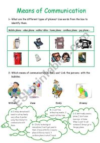 means of communication - ESL worksheet by hedia
