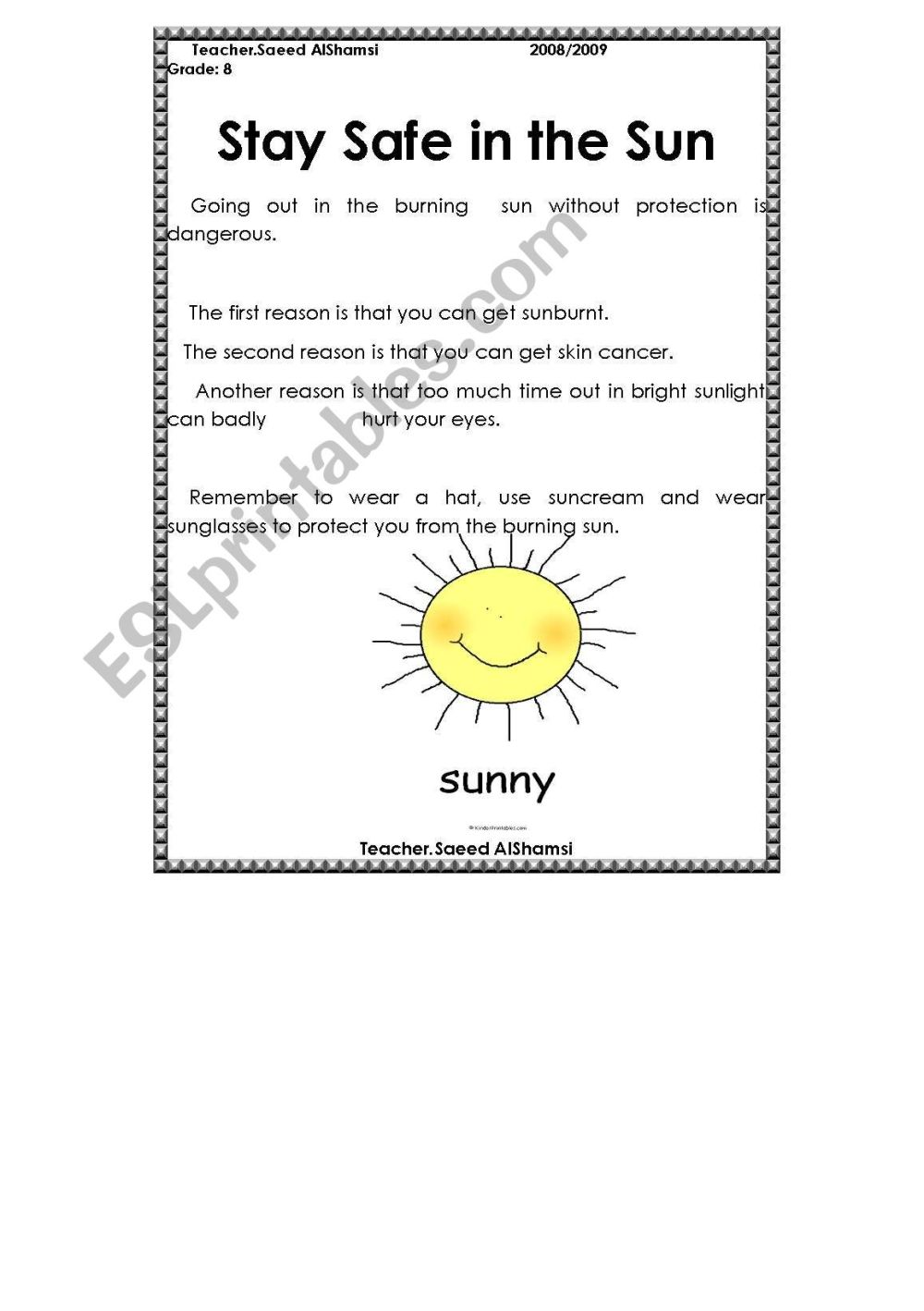 medium resolution of Facts About The Sun Worksheet   Printable Worksheets and Activities for  Teachers
