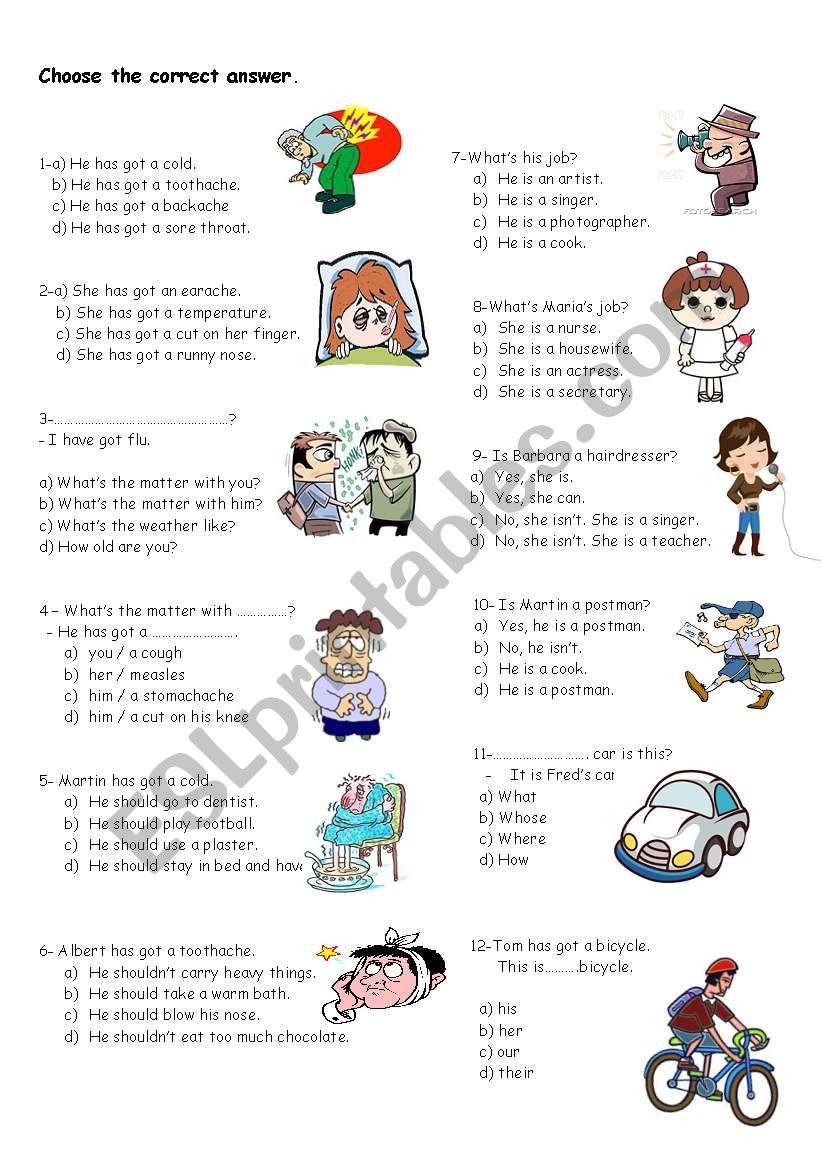 medium resolution of revision for 5th grades - ESL worksheet by nigyy