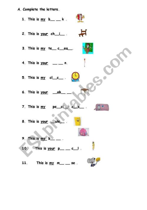 small resolution of English worksheets: 1st grade ws