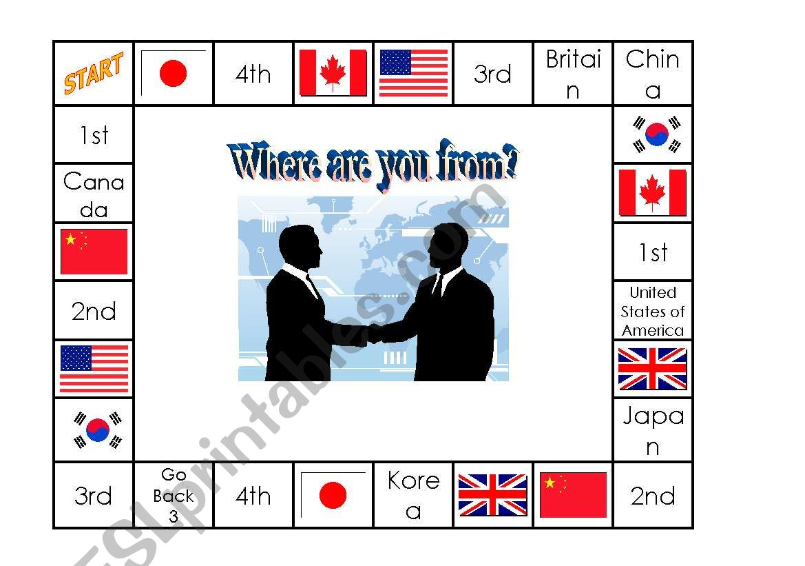 Where Are You From Board Game