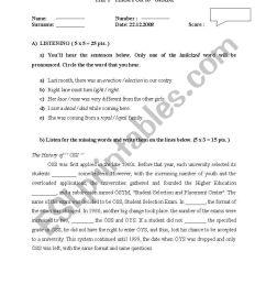 English worksheets: 10th grade exam [ 1169 x 821 Pixel ]