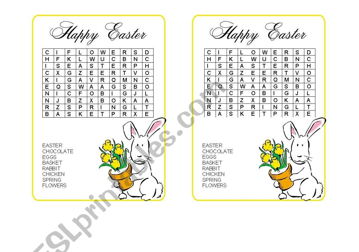 Easter Word Hunt
