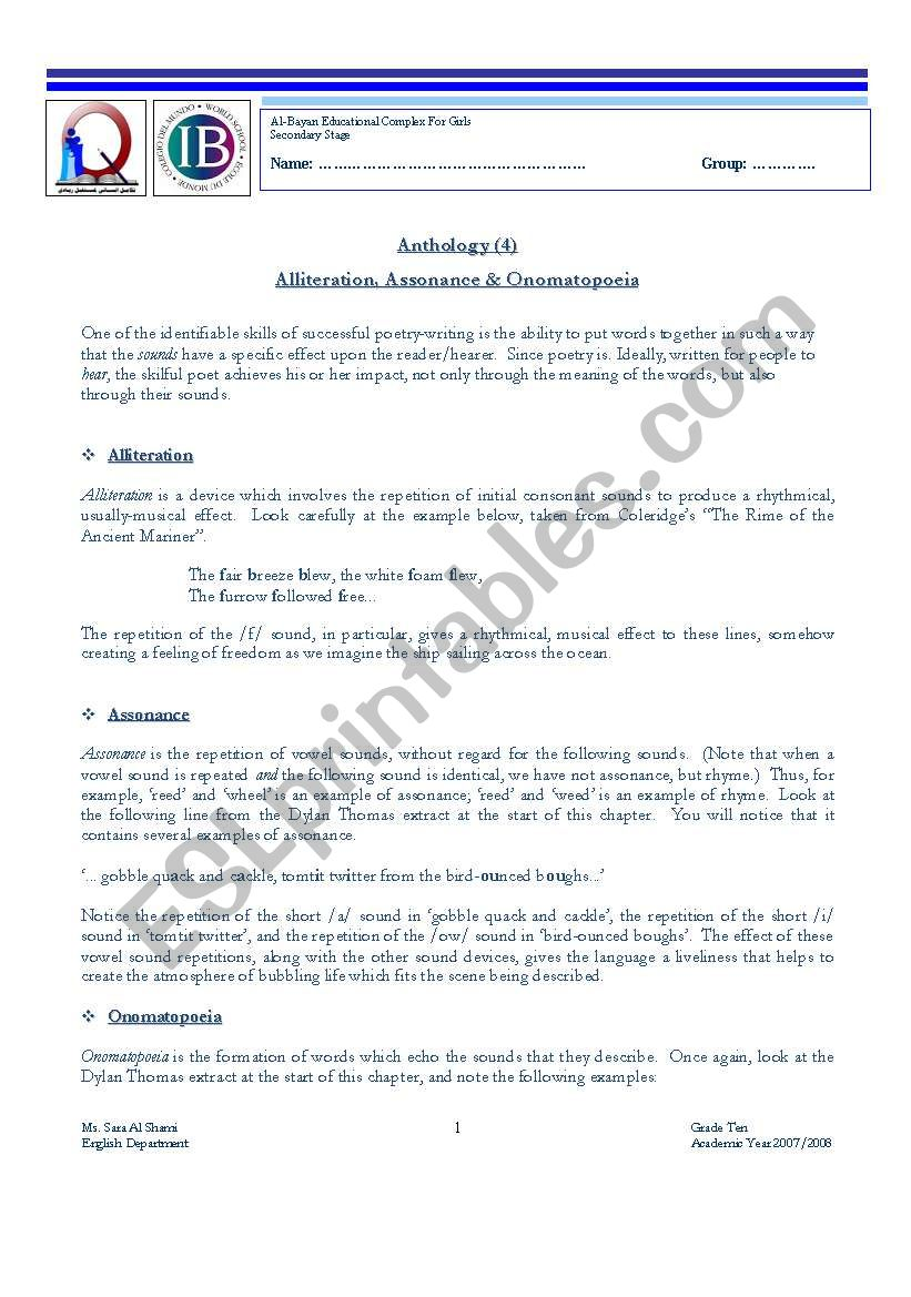 medium resolution of Alliteration