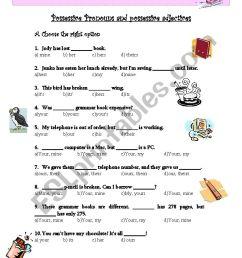 Possessive Pronouns and possessive adjectives - ESL worksheet by verita [ 1169 x 821 Pixel ]