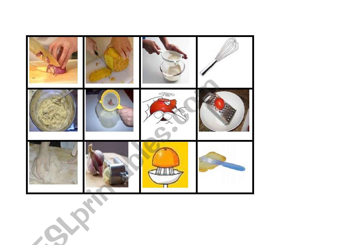 English Worksheets Ways Of Cooking