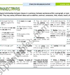CONNECTORS\ - Grammar Guide for Upper Intermediate and Advanced students -  ESL worksheet by mena22 [ 821 x 1169 Pixel ]