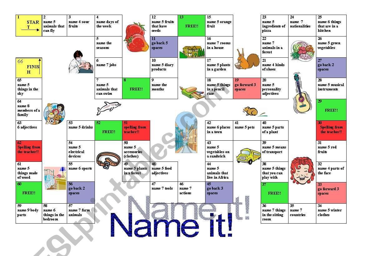 Name It Board Game