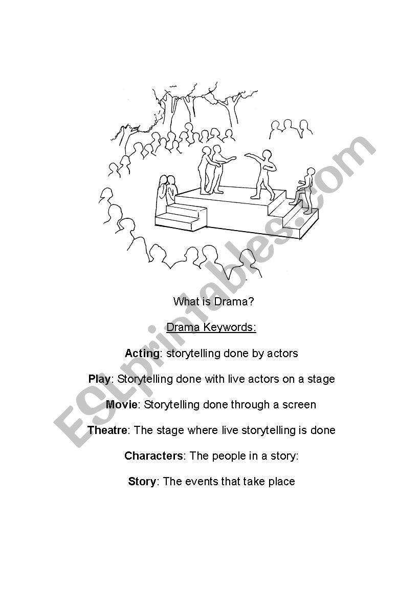 English worksheets: Introduction to Drama