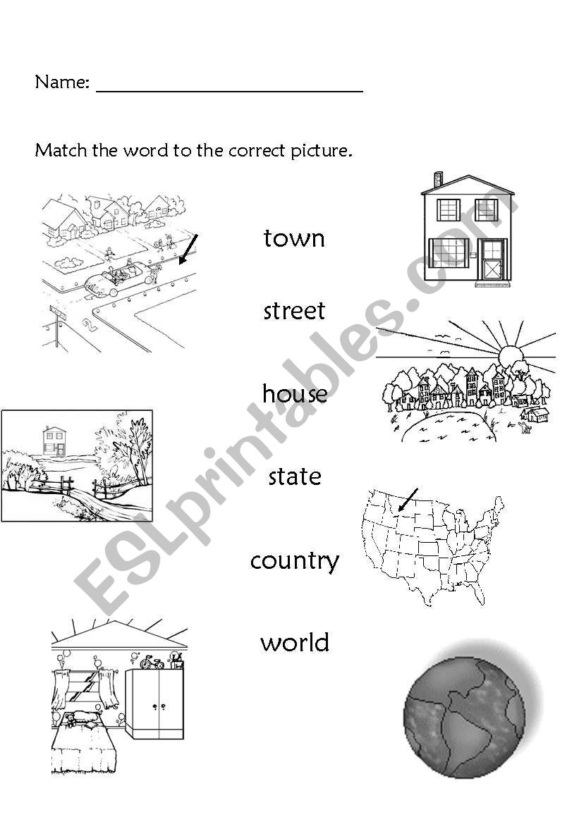 Children story Me in the map ( vocabulary words and