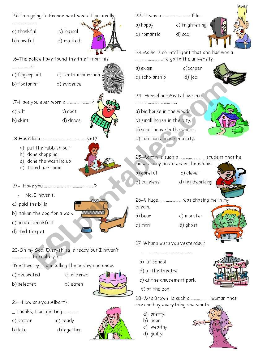 hight resolution of vocabulary for 8th grades 2 - ESL worksheet by nigyy