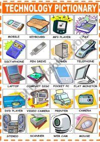 English worksheets: TECHNOLOGY VOCABULARY
