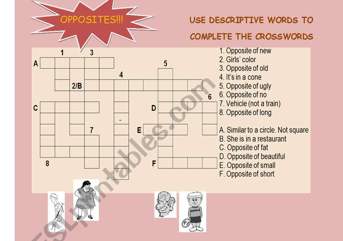 Opposites Crosswords