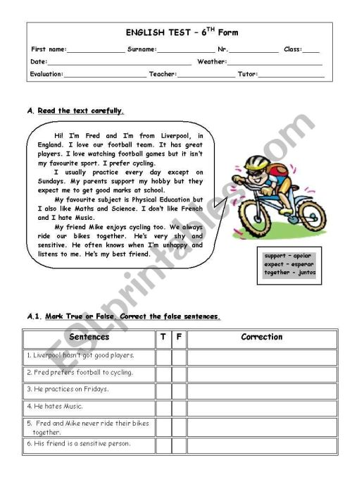 small resolution of ENGLISH TEST_Gerunds