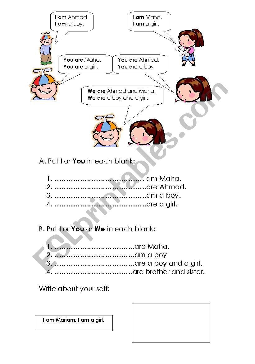 medium resolution of Grade 3 Grammar - ESL worksheet by Maha
