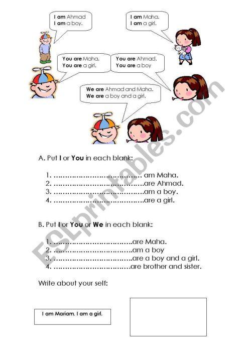 small resolution of Grade 3 Grammar - ESL worksheet by Maha