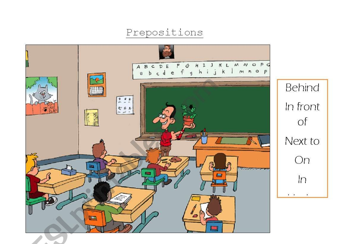 Prepositions In The Classroom