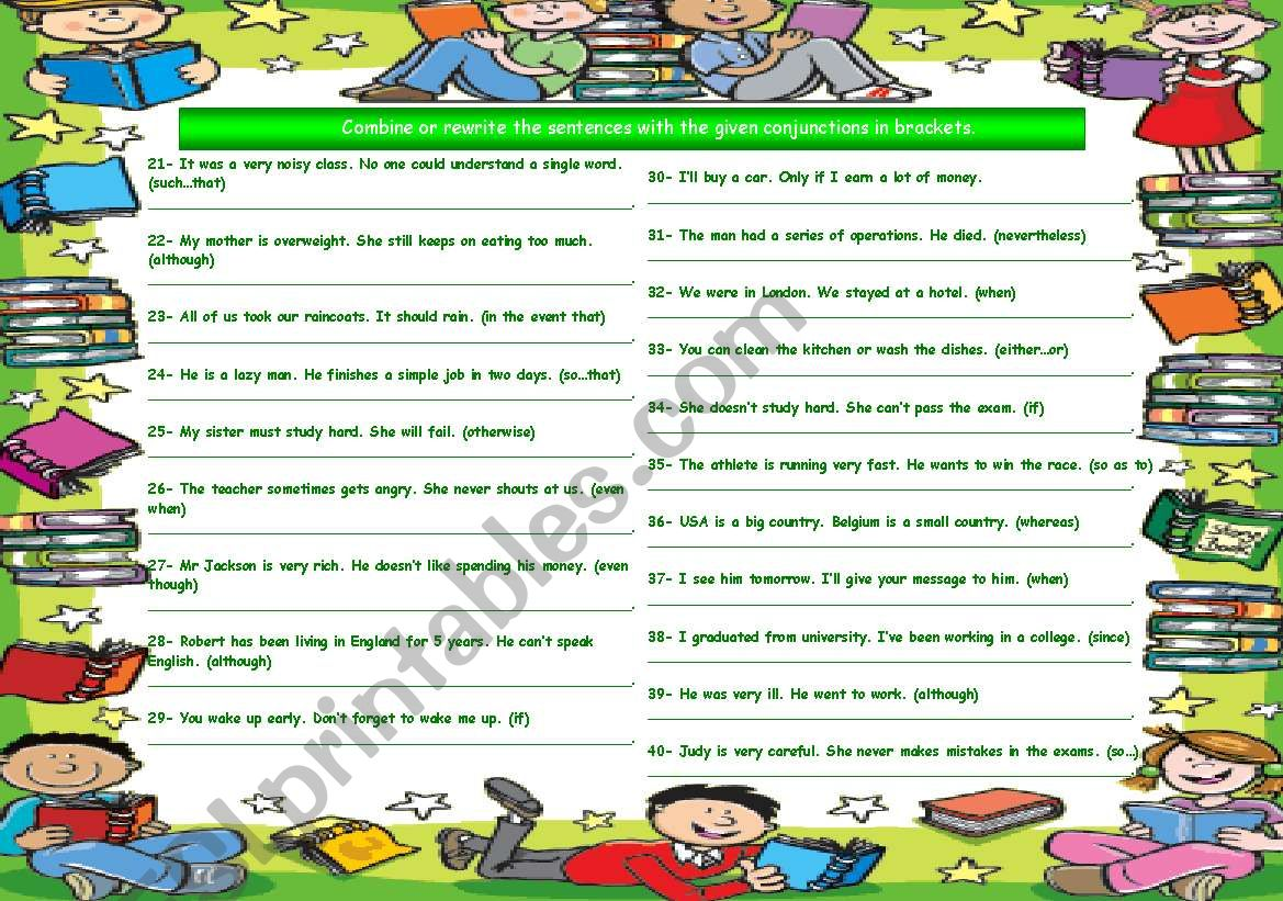 Conjunctions Part 2