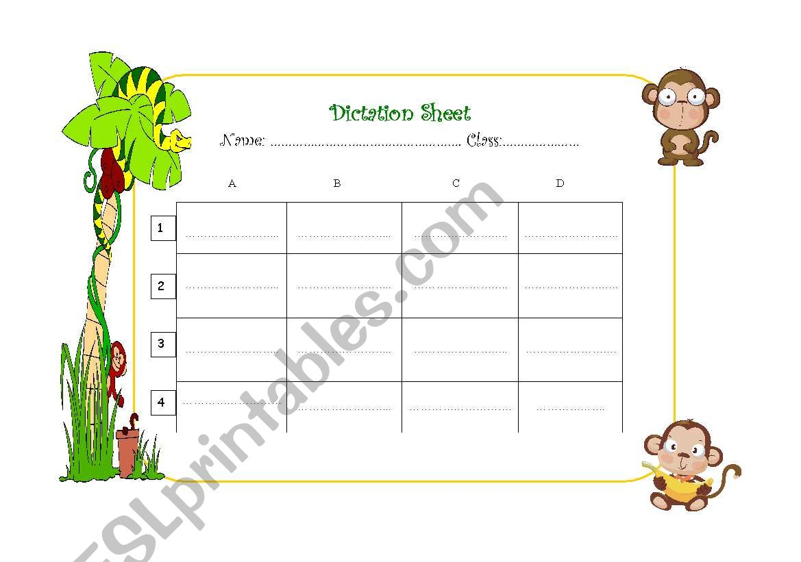 Dictation Sheet