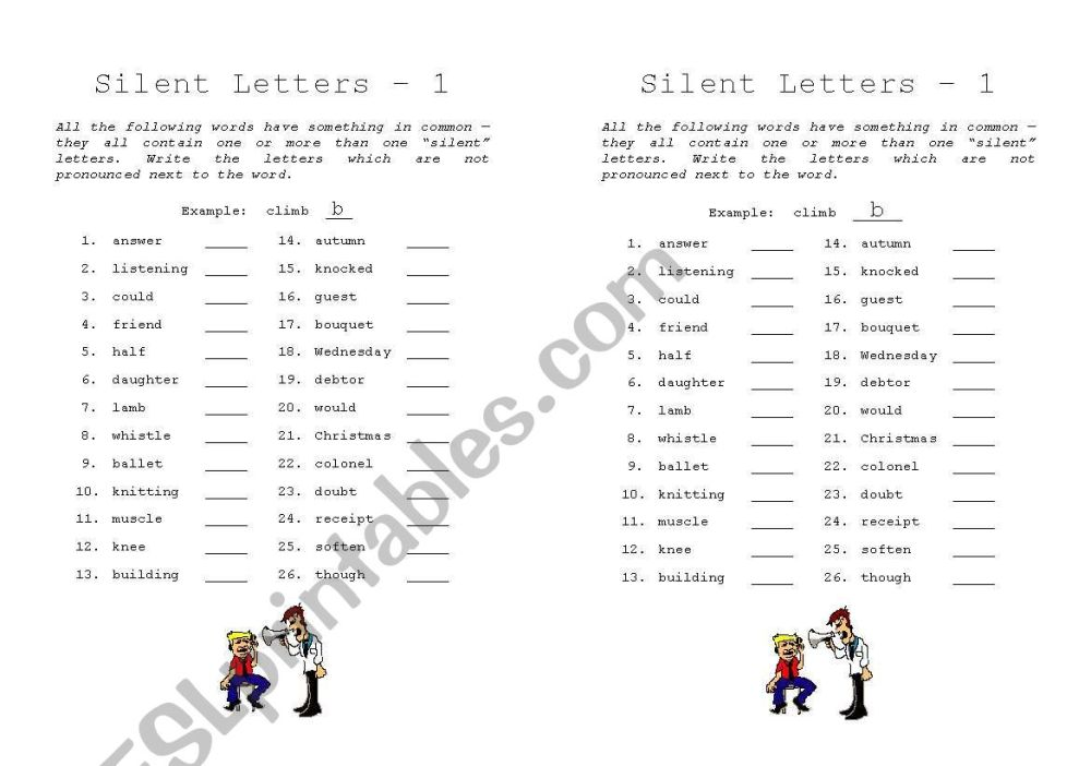 medium resolution of Gh Silent Words Worksheet   Printable Worksheets and Activities for  Teachers