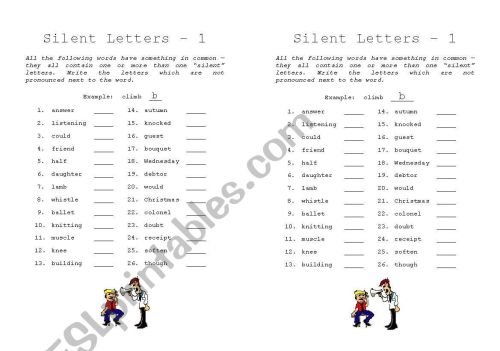 small resolution of Gh Silent Words Worksheet   Printable Worksheets and Activities for  Teachers