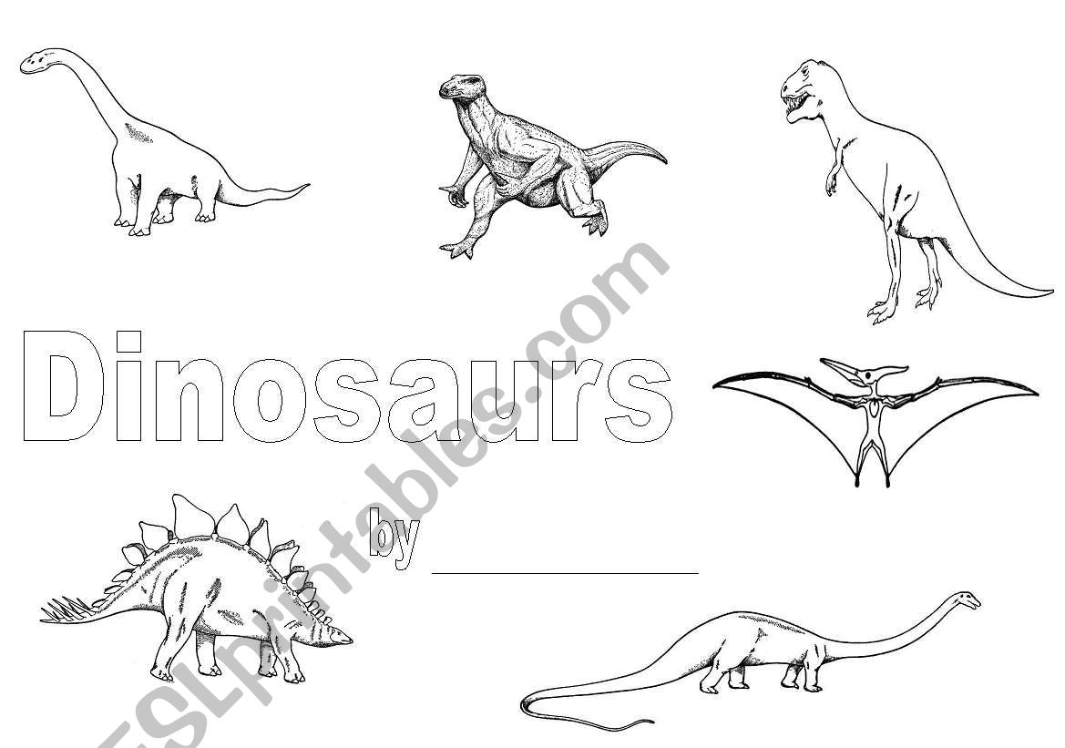 English Worksheets Dinosaur Front Cover