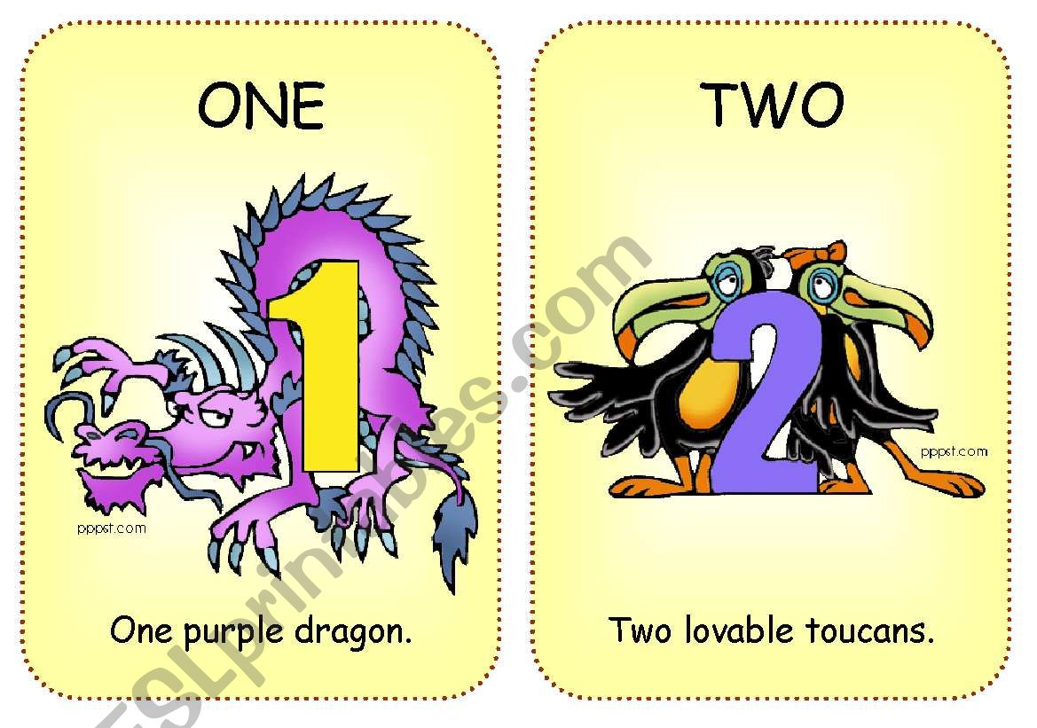 Number Flashcards 1 To 5