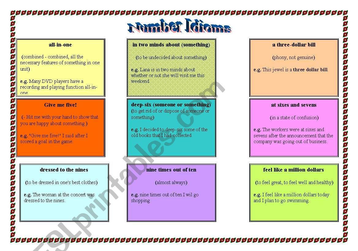 Number Idioms