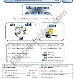 Relative Pronouns - ESL worksheet by Sílvia73 [ 1169 x 821 Pixel ]