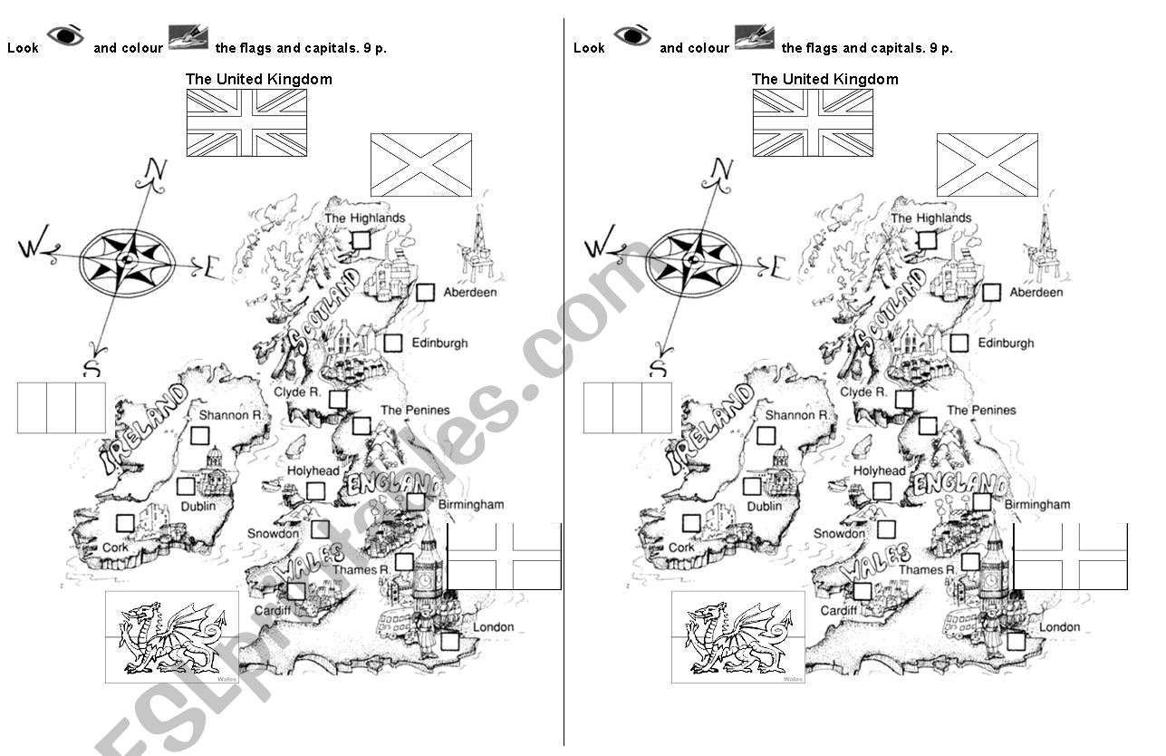 United Kingdom Flags And Capitals