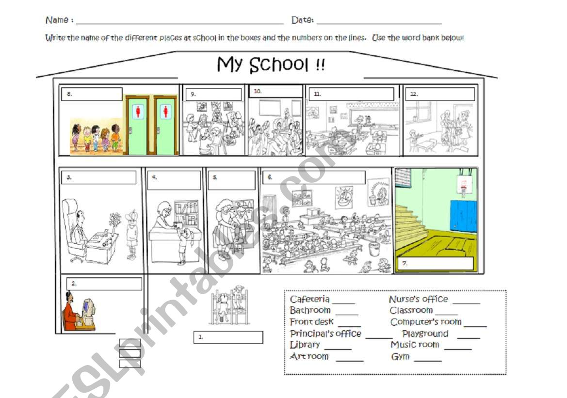 Map Directions Worksheet Esl