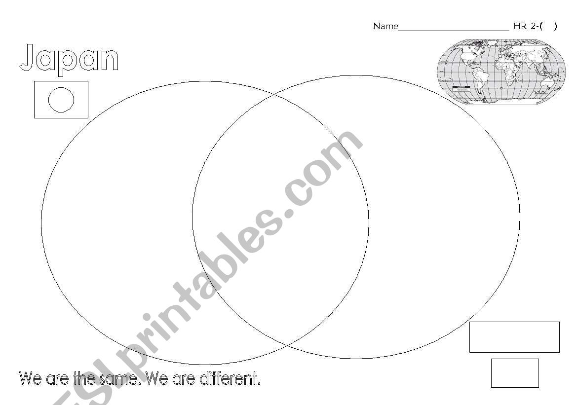 English Worksheets Comparing Cultures Venn Diagram