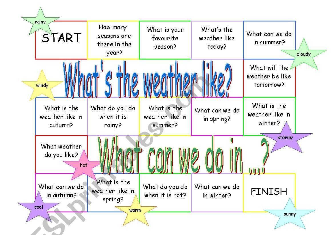 Weather Seasons Seasonal Activities