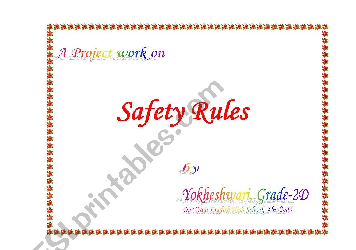 Safety Rules At School Home