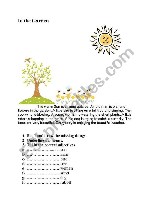 small resolution of English worksheets: Spring