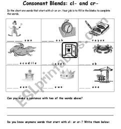 Consonant Blend Worksheets - Letter [ 1169 x 821 Pixel ]
