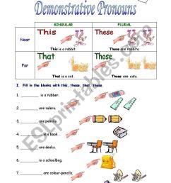 Demonstrative Pronouns - ESL worksheet by sivsc [ 1169 x 821 Pixel ]