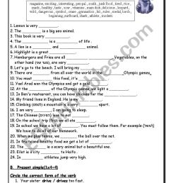 A test -mixed tenses + a bit of vocabulary 4 pages - ESL worksheet by  shigoco [ 1169 x 821 Pixel ]