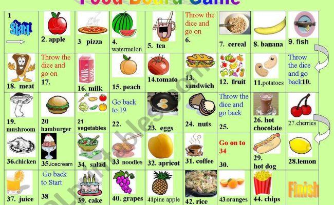 Food Board Game Esl Worksheet By Petili