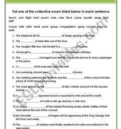 Collective Nouns - ESL worksheet by Hannale [ 1169 x 821 Pixel ]
