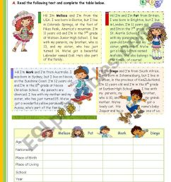 I Love My Family\ - The 1st 45-minute-lesson (of 2) -- Reading leading to  writing for Elementary and Lower intermediate students - ESL worksheet by  mena22 [ 1169 x 821 Pixel ]