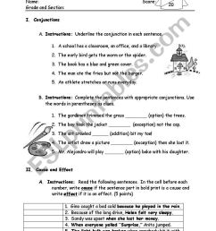 English worksheets: conjunctions [ 1287 x 834 Pixel ]