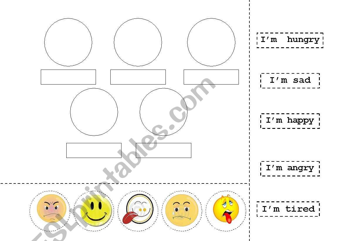 English Worksheets Faces And Feelings