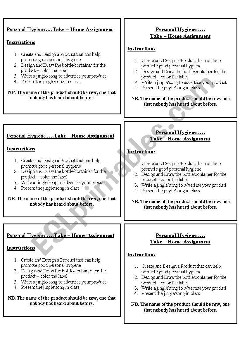 medium resolution of Personal Hygiene - ESL worksheet by roxyboo