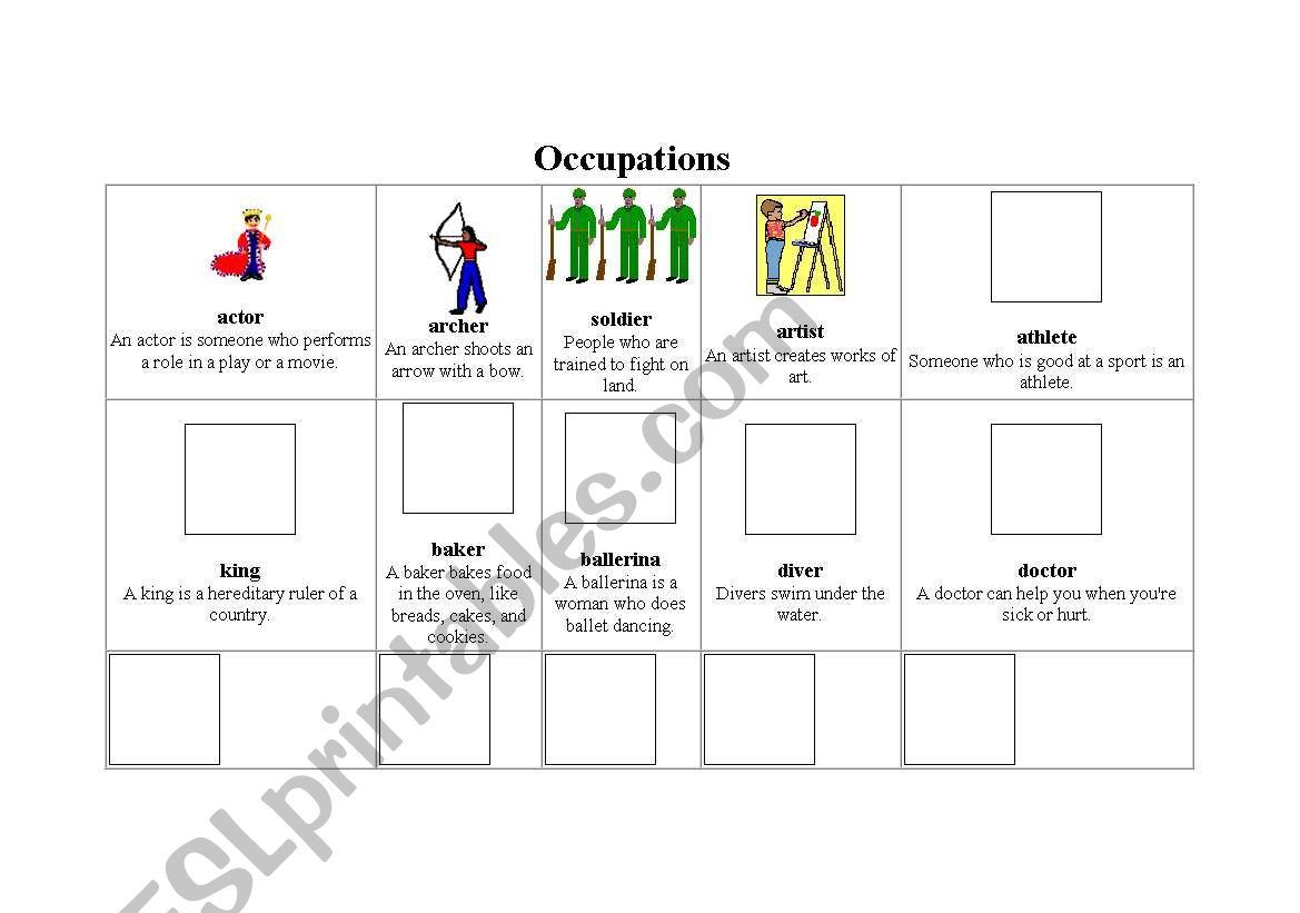 Occupations Vocabulary