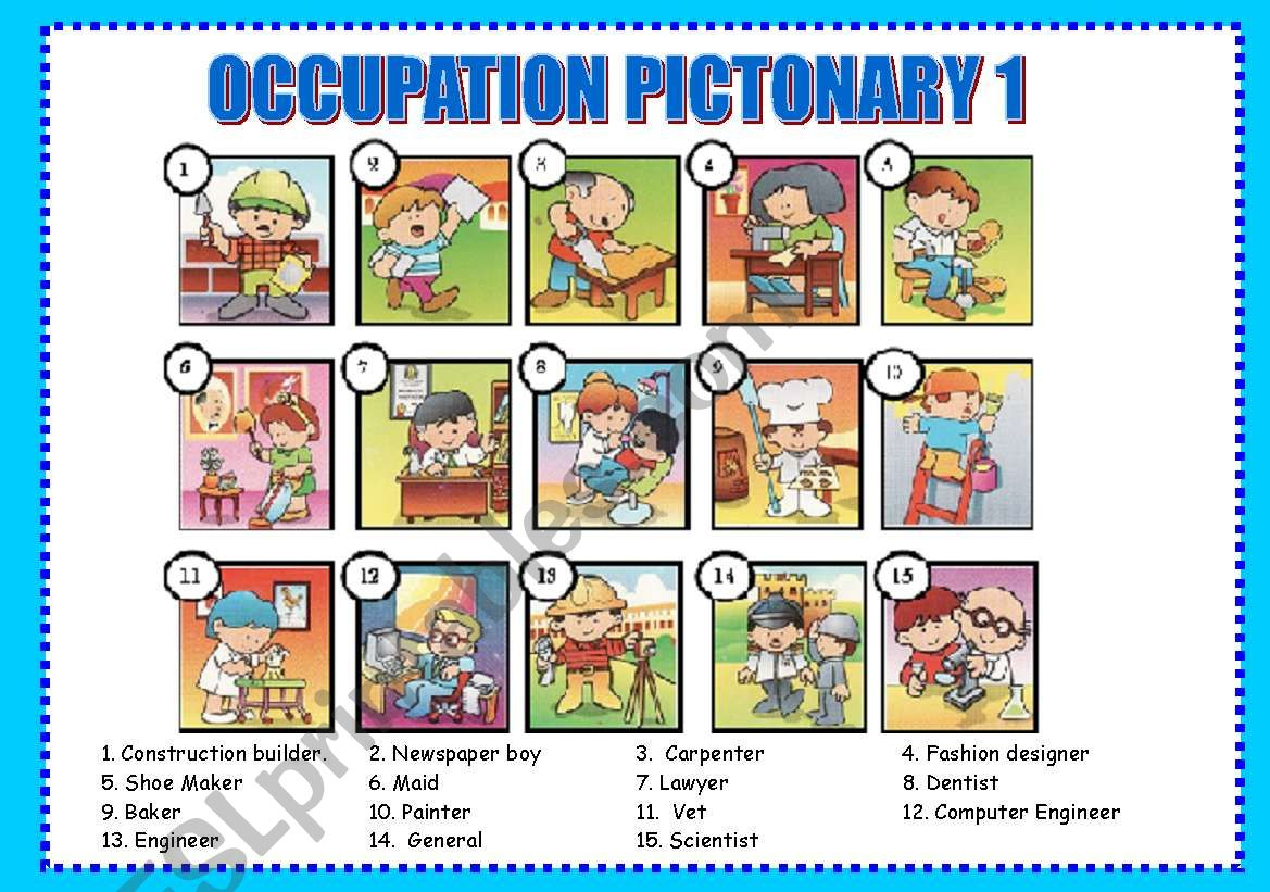 Occupation Pictionary