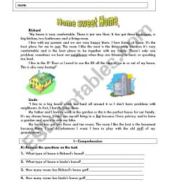 Home sweet home - ESL worksheet by ladybug [ 1169 x 821 Pixel ]