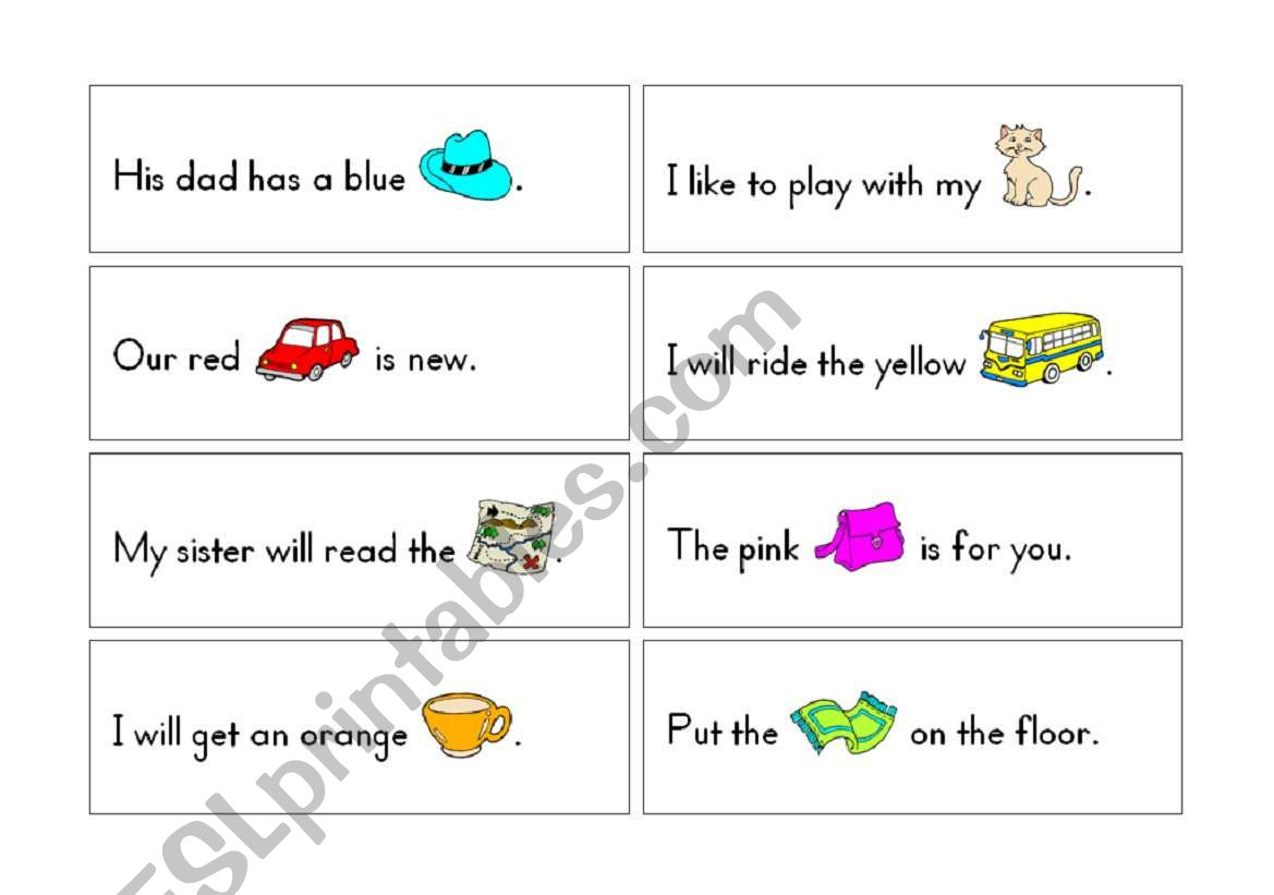 English Worksheets Rebus Short Vowel Learning Cards Pages