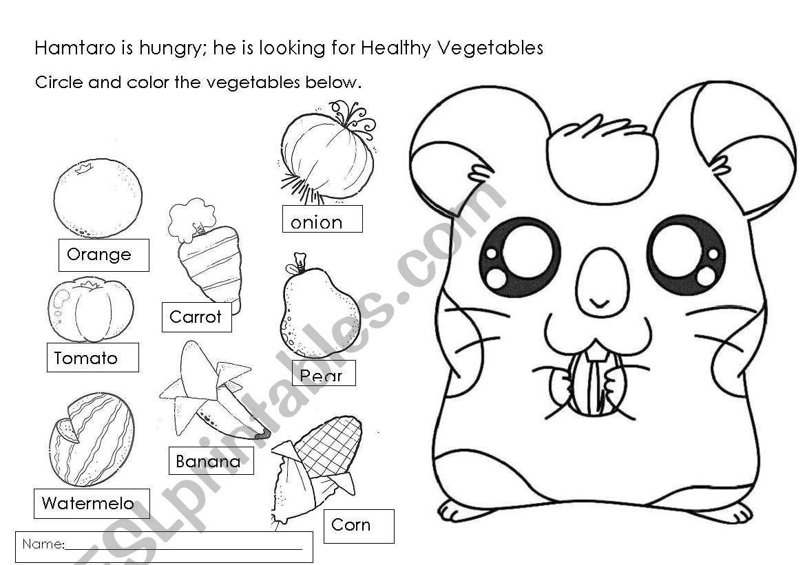 Hamtaro Vegetables
