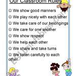 Our Classroom Rules Esl Worksheet By Purplepossum